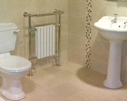 Warm Tiles in Bathroom